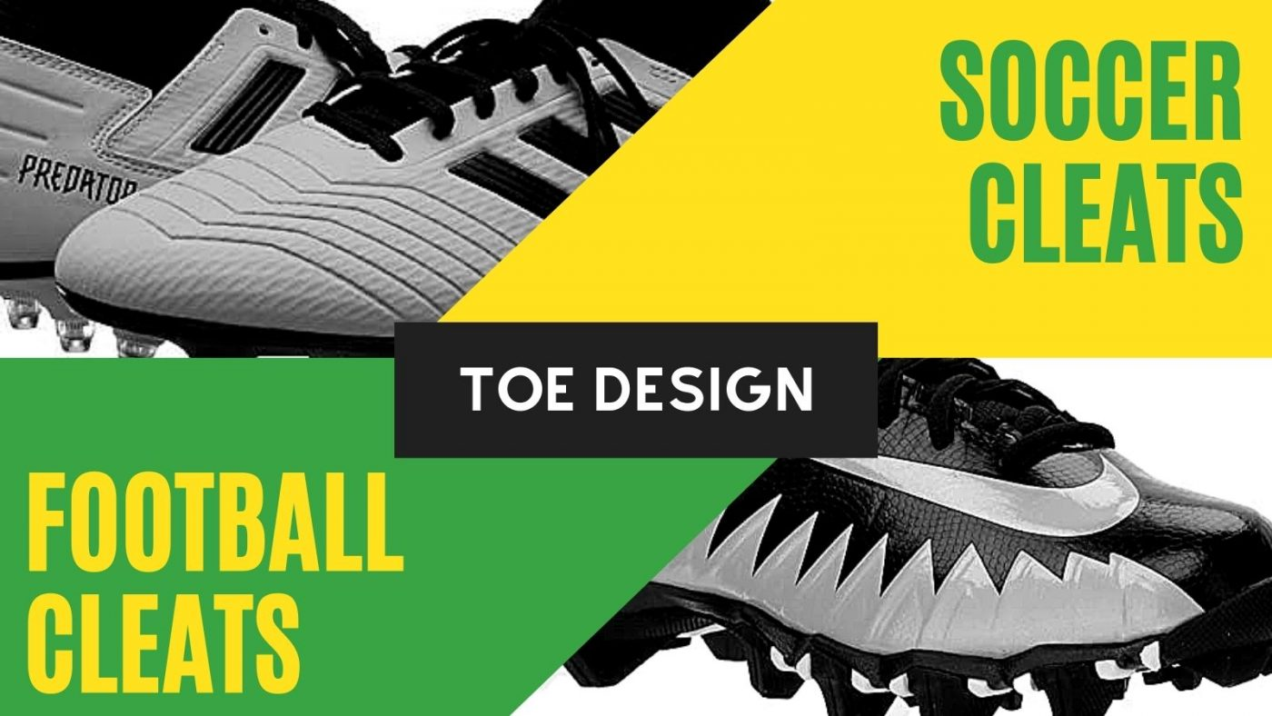 Toe Design of soccer cleats and football cleats