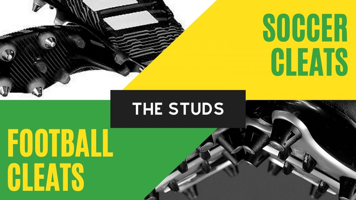 studs of soccer cleats and football cleats