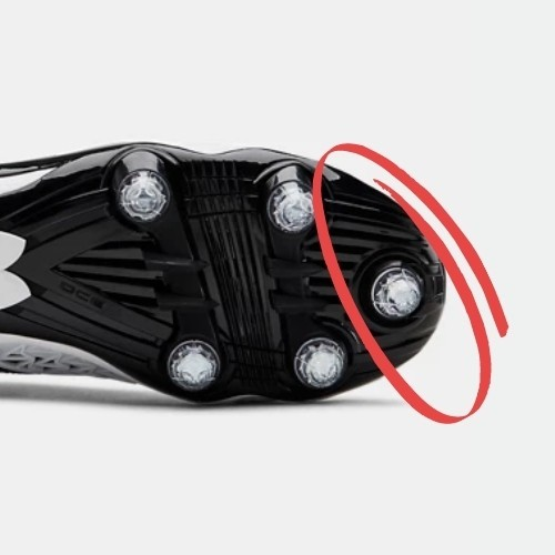 front cleat of football cleats
