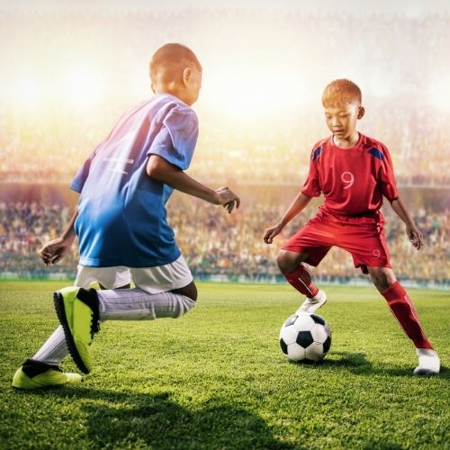 small youth soccer games 1-2-1